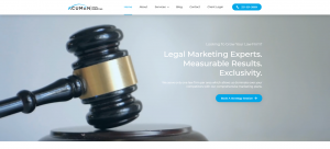 Acumen Legal Marketing Website's Home Page Screen Shot