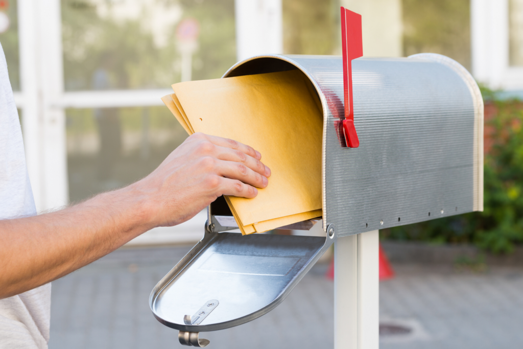 Taking Mail Out of Mailbox